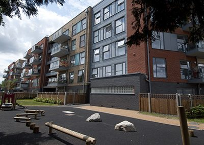New buildings at Loughborough Park in south London