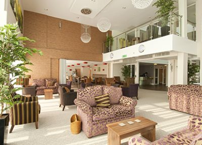 Interior of Juniper Court extra care scheme for older people.
