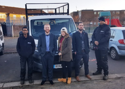 Claire from Thames Reach with our estates team